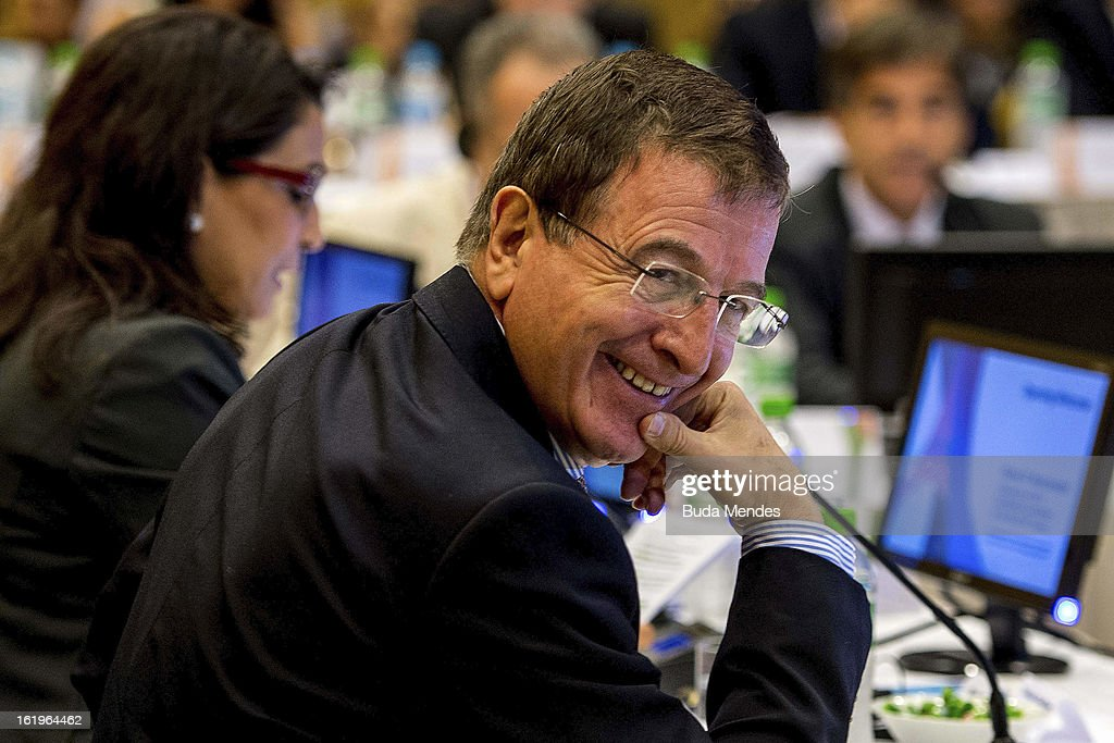 Director of COI Gilbert Felli smiles during the 4th Meeting of IOC Coordination Commission for the Olympic Games at Windsor Hotel on February 18, 2013 in Rio de Janeiro, Brazil.
