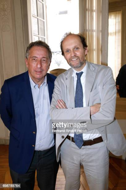 Director of Communication and Cooperative Life at the Caisse d'Epargne Thomas Levet and President de l'Academie des Molieres JeanMarc Dumontet with...