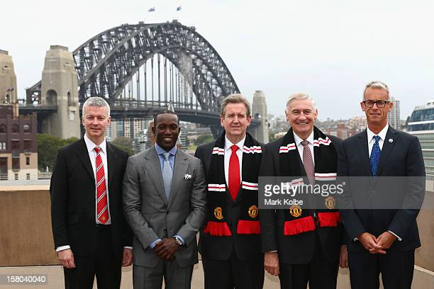 Director of Communications from Manchester United Phil Townsend Dwight Yorke NSW Premier Barry O'Farrell George Souris MP and FFA CEO David Gallop...
