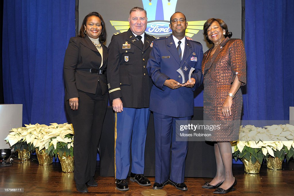 Director of Community Development for Ford Motor Company Pamela Alexander, Colonel John King, Garfield Peart and Deborah Richardson attend the 2012 Ford Freedom Usung Awards ceremony at Historic Academy of Medicine at Georgia Institute of Technology on December 7, 2012 in Atlanta, Georgia.