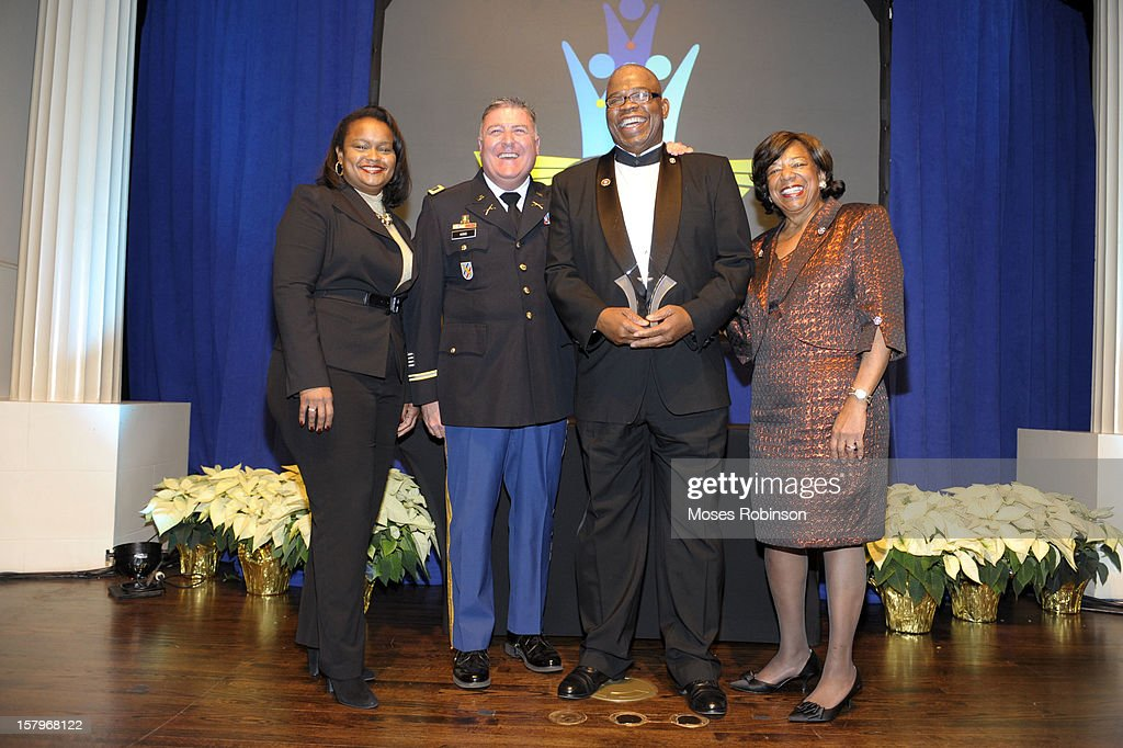 Director of Community Development for Ford Motor Company Pamela Alexander, Colonel John King, <a gi-track='captionPersonalityLinkClicked' href=/galleries/search?phrase=Johnny+Miller&family=editorial&specificpeople=711716 ng-click='$event.stopPropagation()'>Johnny Miller</a> and Deborah Richardson attend the 2012 Ford Freedom Usung Awards ceremony at Historic Academy of Medicine at Georgia Institute of Technology on December 7, 2012 in Atlanta, Georgia.