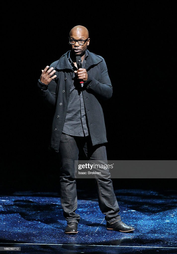 Director of Creation Welby Altidor introduces a sneak peek of 'Michael Jackson ONE' by Cirque du Soleil at Mandalay Bay Resort & Casino on May 7, 2013 in Las Vegas, Nevada.