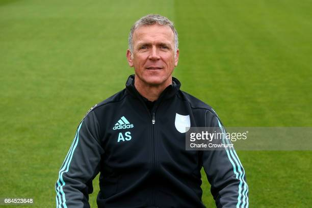 Director of cricket Alec Stewart poses for a photo during the Surrey CCC Photocall at The Kia Oval on April 4 2017 in London England
