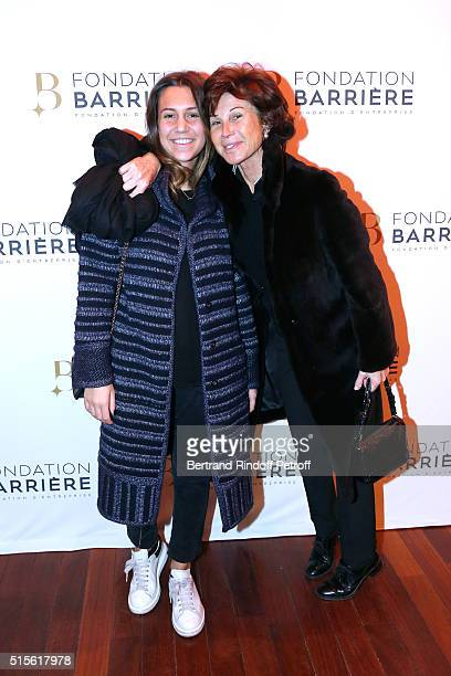 Director of Dior shop Sylvie Rousseau and her daughter Constance Ayache attend the Premiere of 'Five' Laureat Du Prix Cinema 2016 Fondation Diane And...