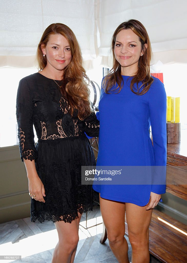 Director of Entertainment and PR of Jimmy Choo Sara Riff (L) and Founder of Rodial Skincare <a gi-track='captionPersonalityLinkClicked' href=/galleries/search?phrase=Maria+Hatzistefanis&family=editorial&specificpeople=4477407 ng-click='$event.stopPropagation()'>Maria Hatzistefanis</a> attend the Rodial 10th Anniversary Luncheon on April 2, 2013 in West Hollywood, California.