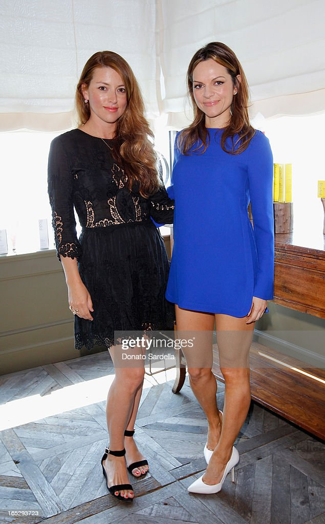 Director of Entertainment and PR of Jimmy Choo Sara Riff (L) and Founder of Rodial Skincare Maria Hatzistefanis attend the Rodial 10th Anniversary Luncheon on April 2, 2013 in West Hollywood, California.