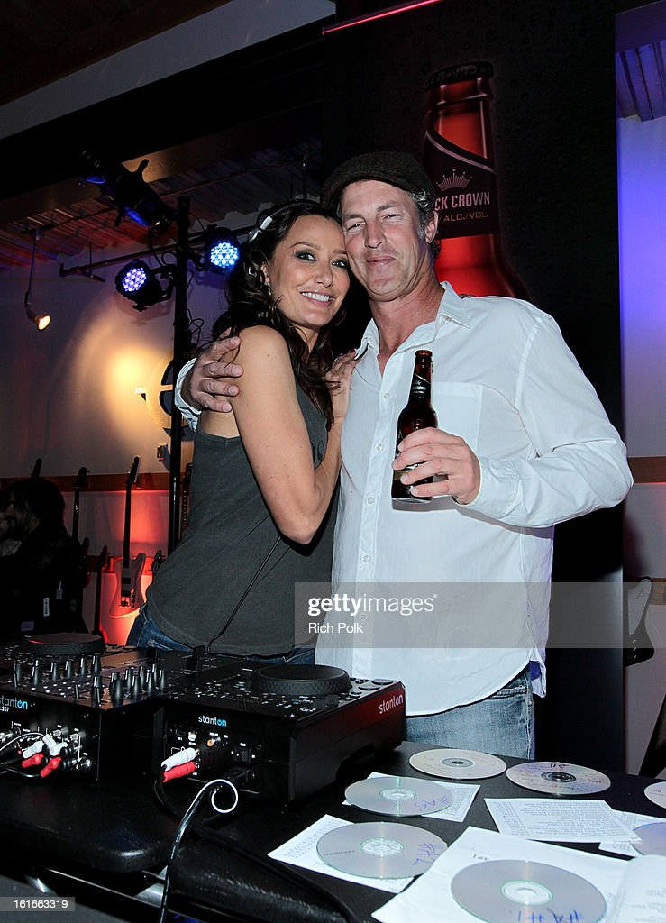 Director of Entertainment Marketing, Anheuser-Busch Jim Holleran (R) attends the Budweiser Black Crown Launch Party at gibson/baldwin showroom on February 13, 2013 in Los Angeles, California.