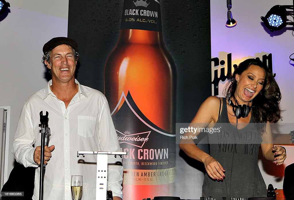 Director of Entertainment Marketing, Anheuser-Busch Jim Holleran (L) attends the Budweiser Black Crown Launch Party at gibson/baldwin showroom on February 13, 2013 in Los Angeles, California.