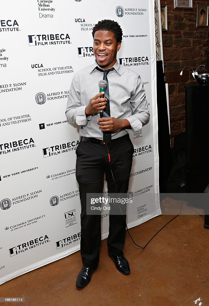 Director of Feature Programming for Tribecca Film Institute, Tamir Muhammad speaks during the Sloan Foundation Student Grand Jury Prize Award presentation on April 9, 2013 in New York City.