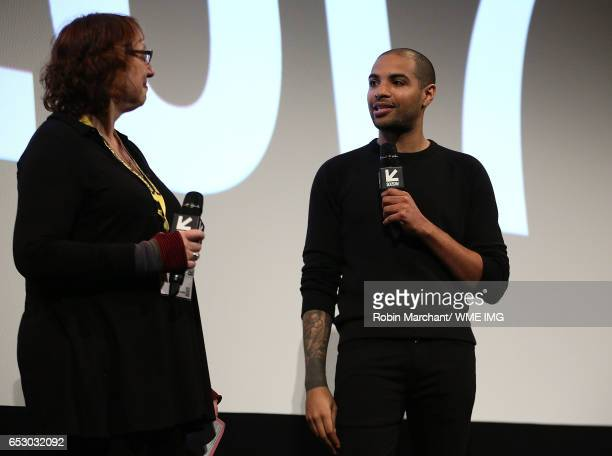 Director of Film Janet Pierson and Director Elijah Bynum attend Imperative Entertainment's 'Hot Summer Nights' SXSW world premiere at Paramount...