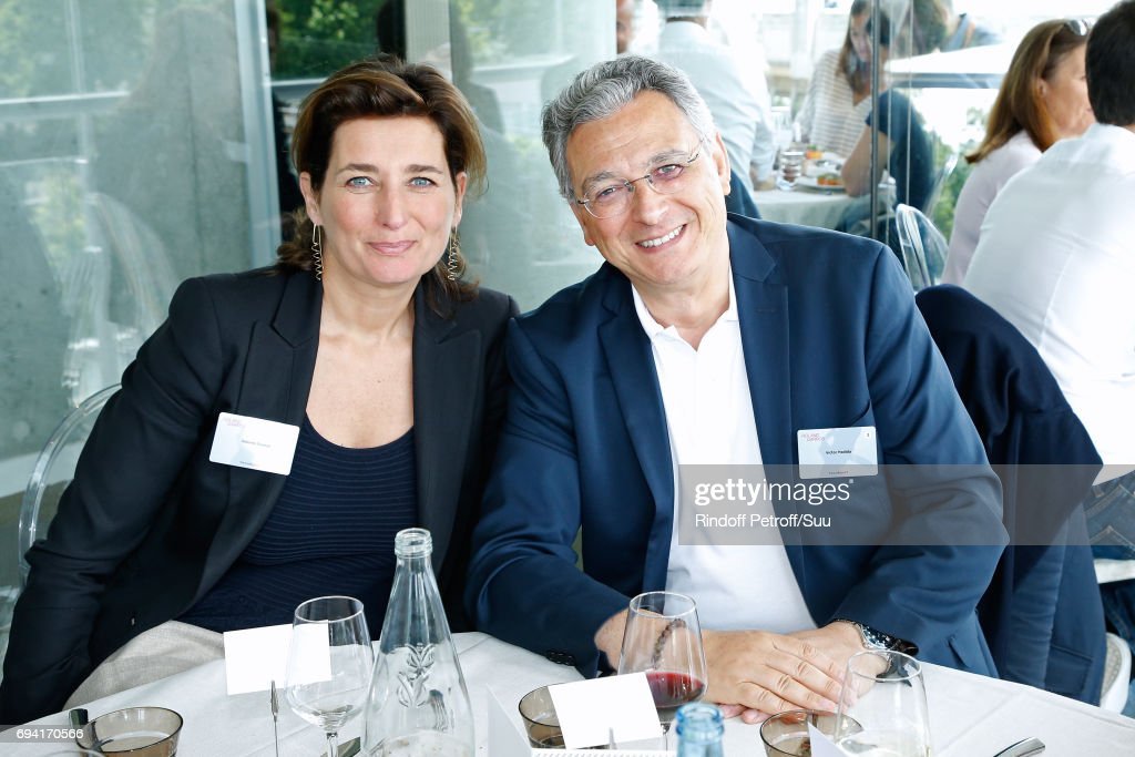 Director of Gaumont Sidonie Dumas and CEO of the 'Metropolitan Films Export', Victor Hadida attend the 'France Television' Lunch during the 2017 French Tennis Open - Day Thirteen at Roland Garros on June 9, 2017 in Paris, France.