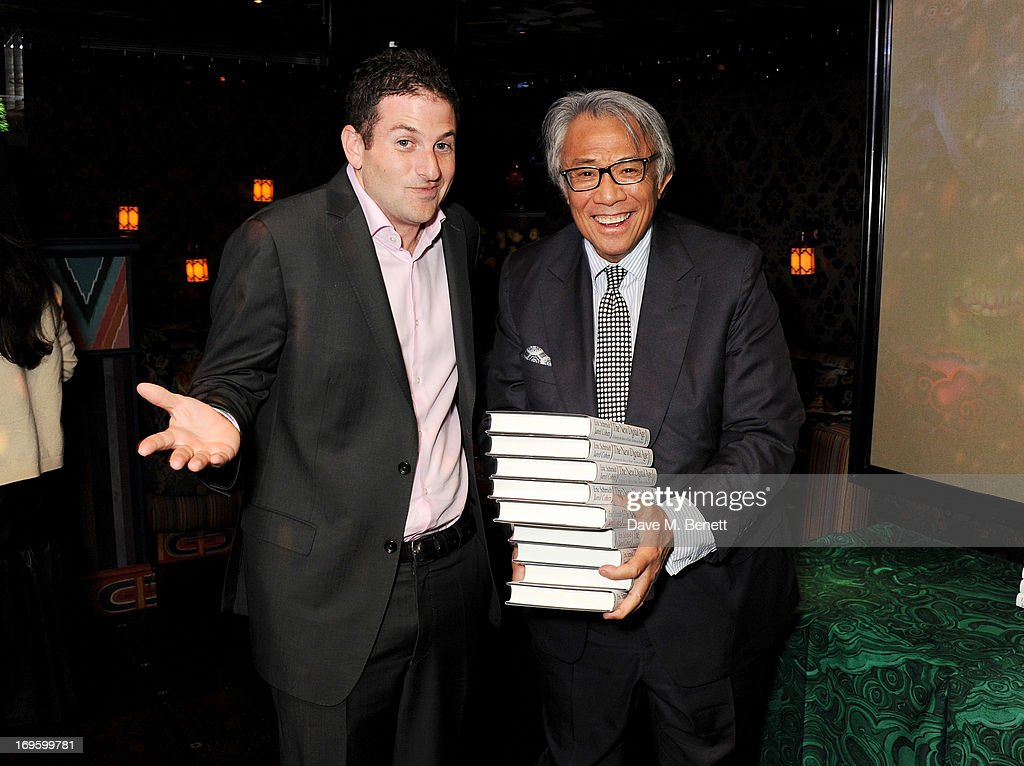 Director of Google Ideas Jared Cohen (L) and David Tang attend the launch of 'The New Digital Age: Reshaping The Future Of People, Nations and Business' by Eric Schmidt and Jared Cohen, hosted by Jamie Reuben, at Loulou's on May 28, 2013 in London, England.