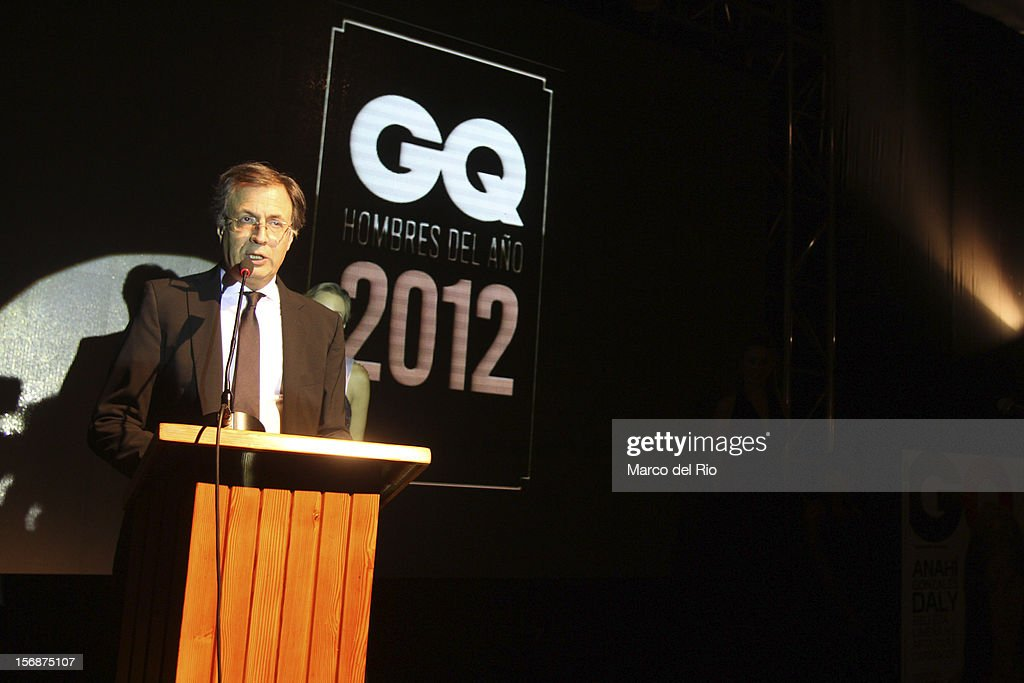 Director of GQ Rafael Molano speaks during the awards ceremony GQ Men of the Year 2012 at La Huaca Pucllana on November 23, 2012 in Lima, Peru.