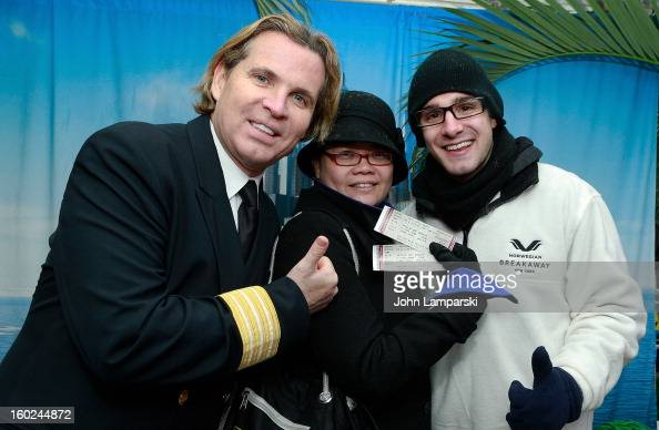 Director of Hotel Operations Klaus Lugmaier attend the Norwegian Warming Station launch in Times Square on January 28 2013 in New York City