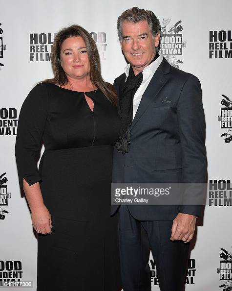 Director of HRIFF's Best Documentary Film 'Poisoning Paradise' Keely Shaye Brosnan and Executive Producer Pierce Brosnan attend the Hollywood Reel...