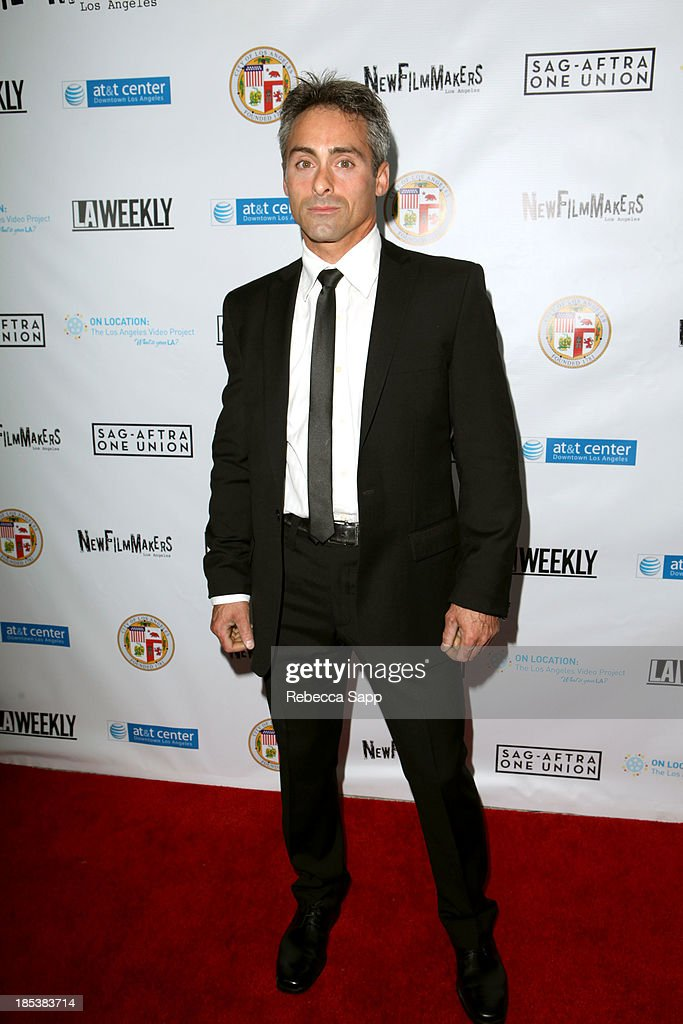 Director of 'I Walk My Dog' Peter Bonilla arrives at the 3rd Annual On Location: The Los Angeles Video Project 2013 at the AT&T Center on October 19, 2013 in Los Angeles, California.