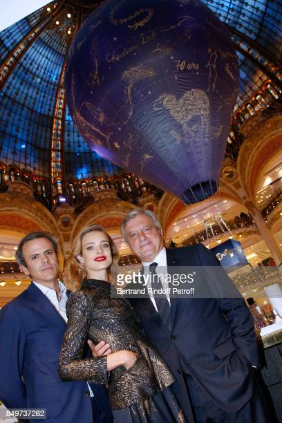 Director of Image and Communication of Galeries Lafayette Guillaume Houze Natalia Vodianova and CEO of Dior Sidney Toledano attend Christian Dior...