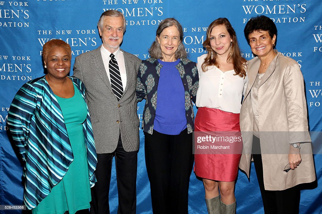 Director of Individual Giving Madeline Holder, writer Harville Hendrix, founder and president of The Sister Fund Helen Lakelly Hunt, Co-founder and executive director of Solidaire Leah Hunt-Hendrix and President & CEO of The New York Women's Foundation Ana L. Oliveira attend The New York Women's Foundation's 2016 celebration womens breakfast on May 5, 2016 in New York City.