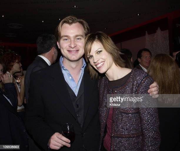 Director of 'Insomnia' Christopher Nolan and Hilary Swank