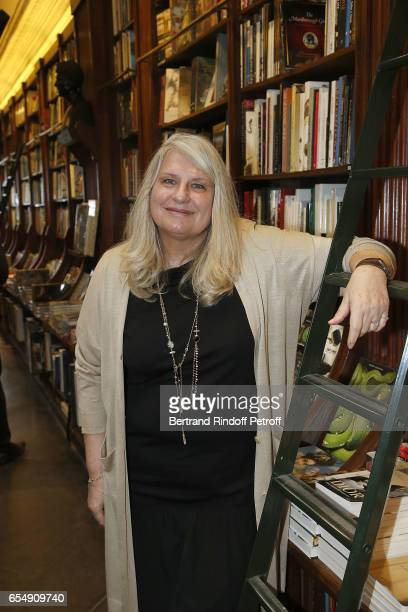 Director of Librairie Galignani Danielle CillienSabatier attends Bertrand Matteoli Signing Book 'Bien Dans Sa Peau' at Librairie Galignali on March...