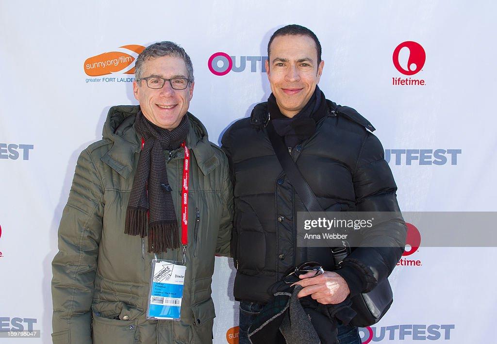 Director of Lovelace/The Battle of amFAR Jeffery Friedman and husband Jason Friedman arrive to Outfest Queer Brunch - 2013 Park City on January 20, 2013 in Park City, Utah.