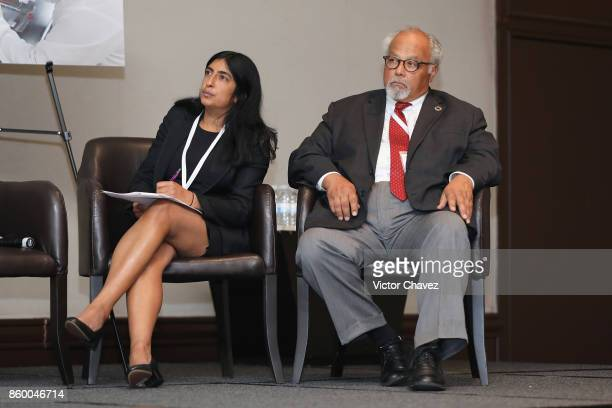 Director of market access TB Alliance Shelly Malhotra and UN Special Envoy on Tuberculosis Dr Eric Goosby attend the TB Alliance Stakeholders...
