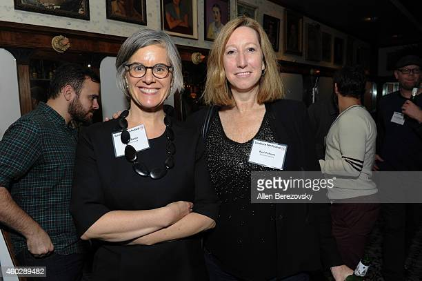 Director of media relations for Sundance Institute Sarah Eaton and executive director of Sundance Institute Keri Putnam attend a Sundance Institute...