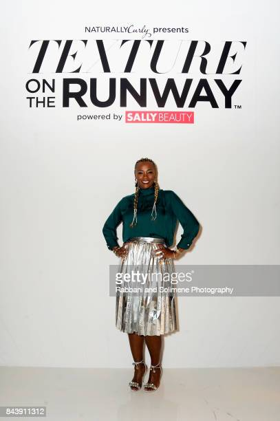Director of Merchandising Sally Beauty Supply Karonda Cook poses on the runway during Texture On The Runway presented by NaturallyCurly powered By...