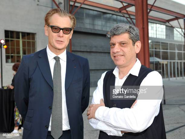 Director of MOCA Philippe Vergne and John Geresi attend MOCA's Leadership Circle and Members' Opening of 'Carl Andre Sculpture as Place 19582010' and...