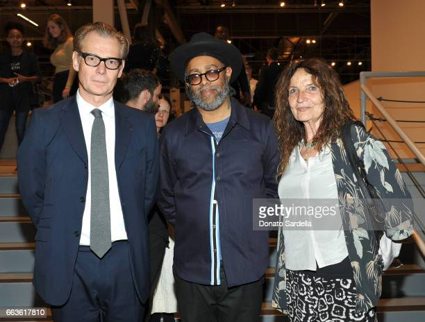 Director of MOCA Philippe Vergne artist Arthur Jafa and artist Lita Albuquerque attend MOCA's Leadership Circle and Members' Opening of 'Carl Andre...