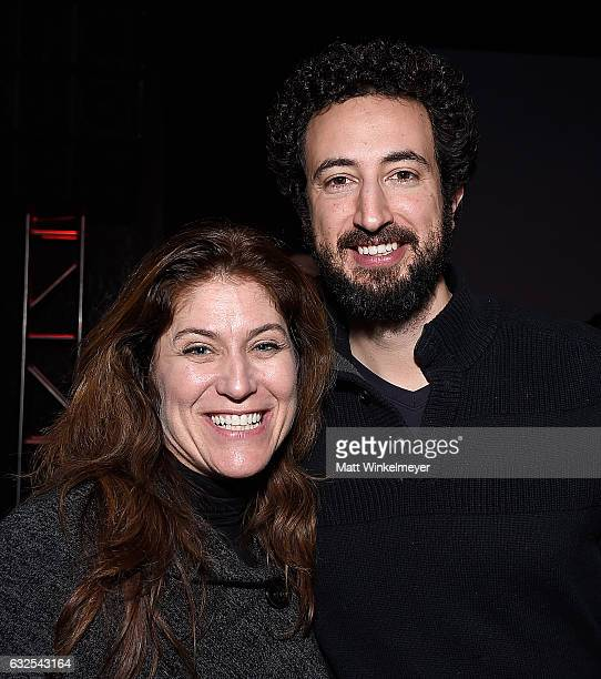 Director of Music Licensing and Marketing for Oovra Music Jacquie Shabel and writer/editor Josh Krigman attend the Film Independent International...