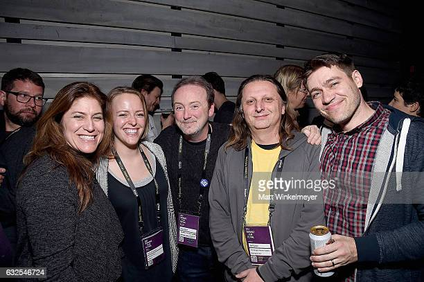 Director of Music Licensing and Marketing for Oovra Music Jacquie Shabel Sally Volkmann Doug Blush Syd Garon and Christoph Baaden attend the Film...