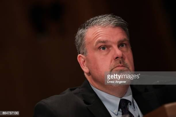 Director of National Counterterrorism Center Nicholas Rasmussen testifies during a Senate Committee on Homeland Security and Governmental Affairs...