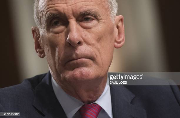US Director of National Intelligence Dan Coats testifies during a Senate Armed Service Committee hearing on Capitol Hill in Washington DC May 23 2017...