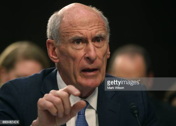 Director of National Intelligence Dan Coats testifies during a Senate Intelligence Committee hearing in the Hart Senate Office Building on Capitol...