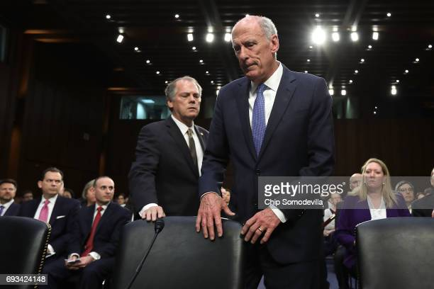Director of National Intelligence Daniel Coats arrives to testify before the Senate Intelligence Committee in the Hart Senate Office Building on...