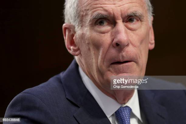 Director of National Intelligence Daniel Coats testifies before the Senate Intelligence Committee in the Hart Senate Office Building on Capitol Hill...