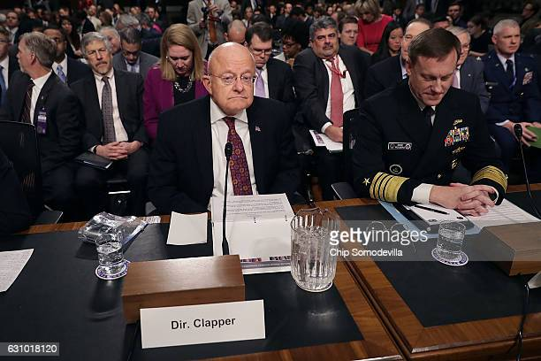 Director of National Intelligence James Clapper and United States Cyber Command and National Security Agency Director Admiral Michael Rogers testify...