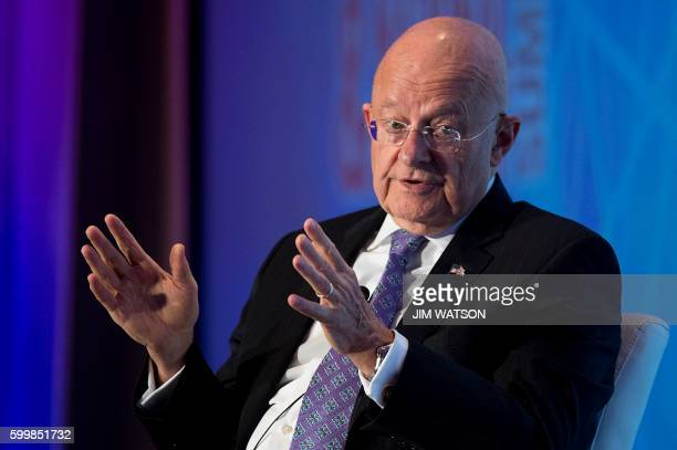 Director of National Intelligence James Clapper speaks at the 2016 Intelligence and National Security Summit in Washington DC September 7 2016 / AFP...
