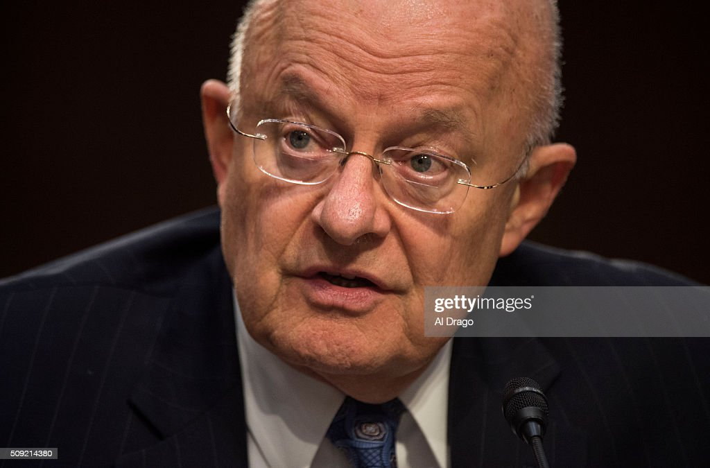 STATES - FEB. 9 - Director of National Intelligence James Clapper speaks on Capitol Hill in Washington, on Tuesday, Feb. 9, 2016, while testifying before the Senate Select Intelligence Committee hearing on worldwide threats.