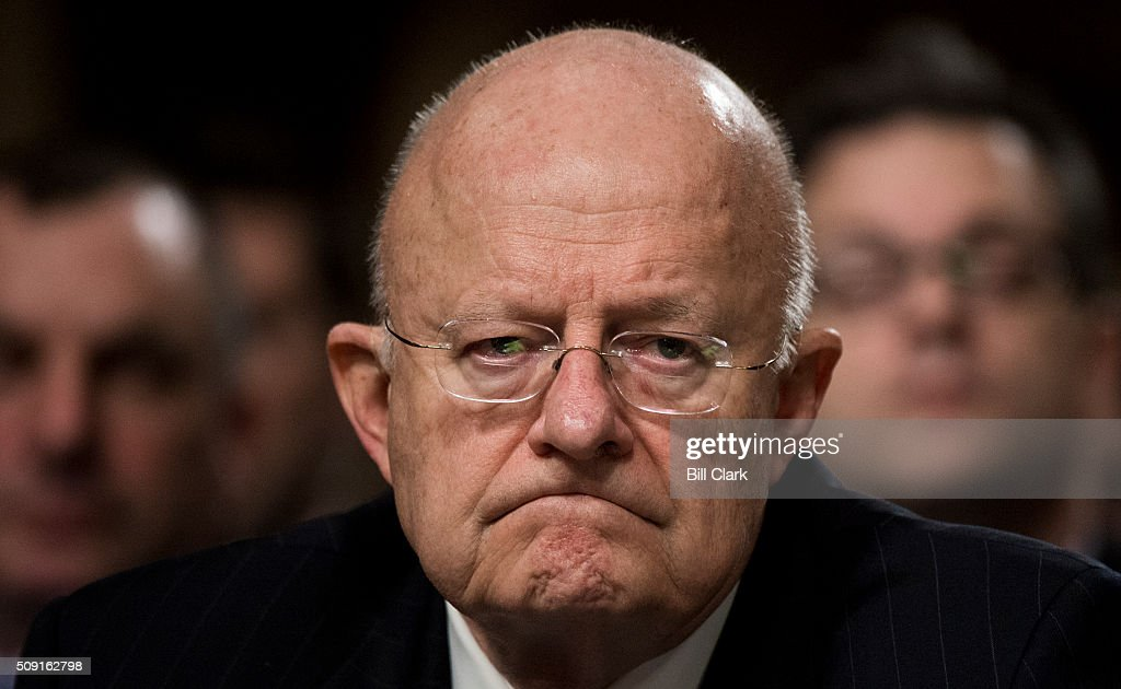 Director Of National Intelligence James Clapper testifies during the Senate Armed Services Committee hearing on 'Worldwide Threats' on Tuesday, Feb. 9, 2016.