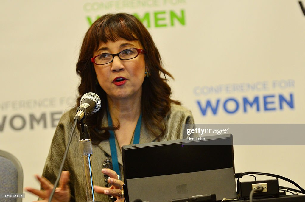 Director of News and Community Affairs for Clear Channel Media and Entertainment's Philadelphia Stations, Loraine Ballard Morrill, speaks at the Pennsylvania Conference For Women 2013 at Philadelphia Convention Center on November 1, 2013 in Philadelphia, Pennsylvania.