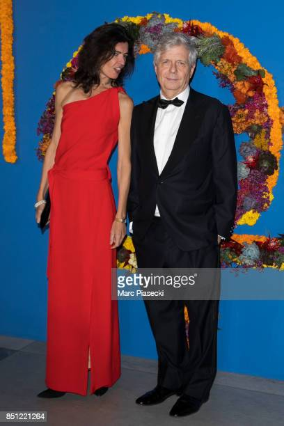 Director of Opera Stephane Lissner and his wife attend the Opening Season Gala at Opera Garnier on September 21 2017 in Paris France
