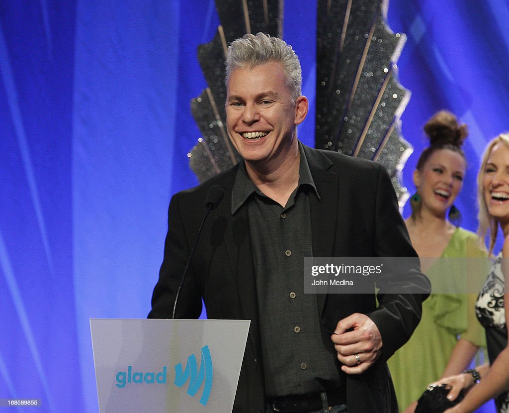 Director of outstanding film 'Any Day Now', Travis Fine accepts the 24th Annual GLAAD Media Award at the Hilton San Francisco - Union Square on May 11, 2013 in San Francisco, California.