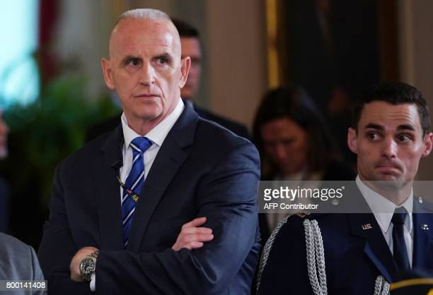 Director of Oval Office operations Keith Schiller attends the signing ceremony for the Department of Veterans Affairs Accountability and...