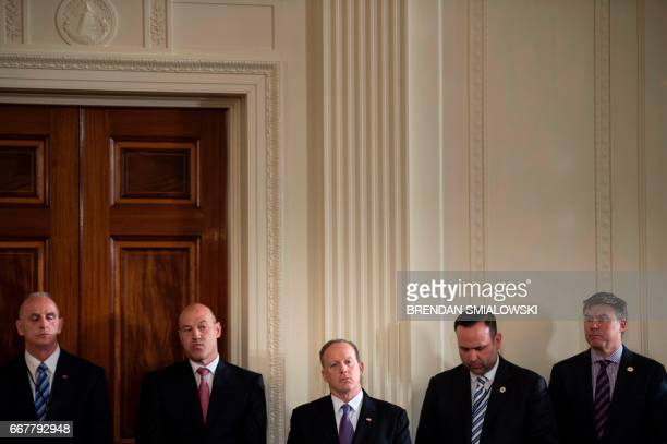 Director of Oval Office operations Keith Schiller National Economic Council Director Gary Cohn White House Press Secretary Sean Spicer and others...