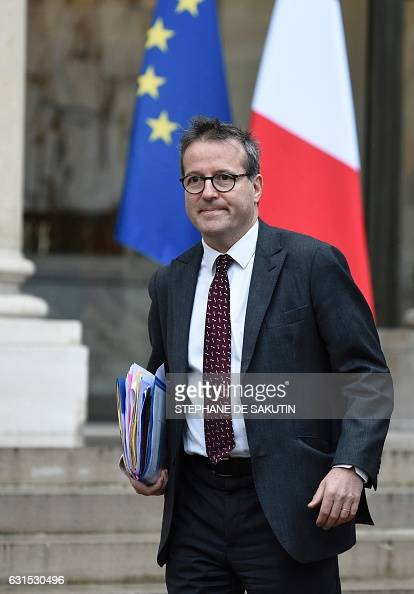 Director of Paris' public assistance hospitals APHP Martin Hirsch leaves a meeting with French President Francois Hollande on January 12 2017 at the...