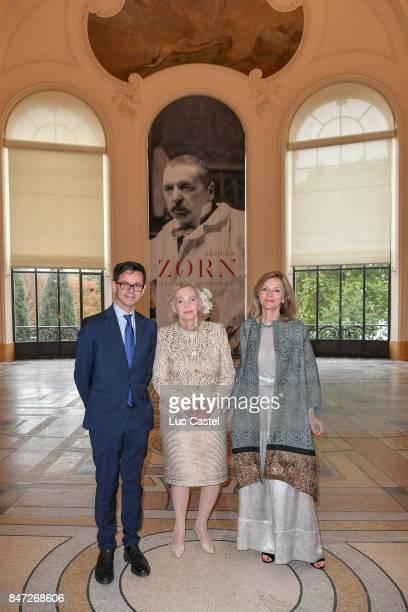 Director of Petit Palais Christophe Leribault Countess Marianne Bernadotte de Wisborg and Ambassador of Sweden to France Veronika WandDanielsson...