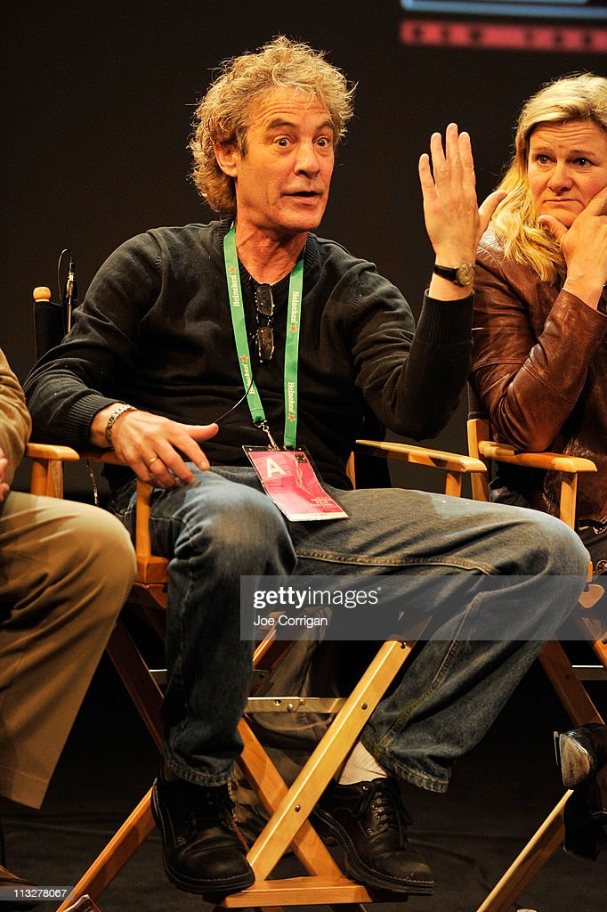 Director of Photography Barry Markowitz and Cinematographer Ellen Kuras speak onstage at Tribeca Talks Industry Shooting Anamorphic during the 2011...