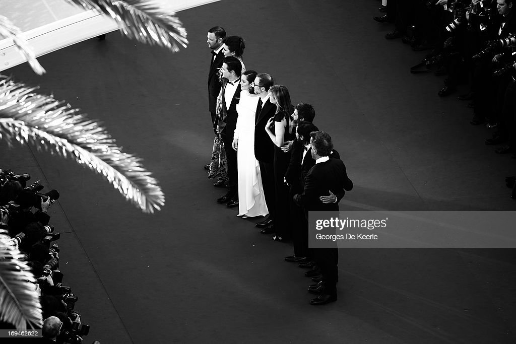 Director of photography Darius Khondji, producers Anthony Katagas, Greg Shapiro, Alexandra Dickson Gray, director James Gray, actors Marion Cotillard and Jeremy Renner attend the 'The Immigrant' premiere during The 66th Annual Cannes Film Festival on May 24, 2013 in Cannes, France.